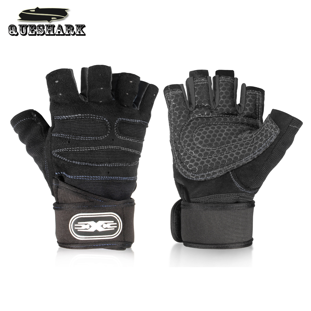 Men Gym Fitness Gloves Sports Exercise Wrist Support Weight Lifting Gloves Body Building Training Crossfit Half Finger Gloves