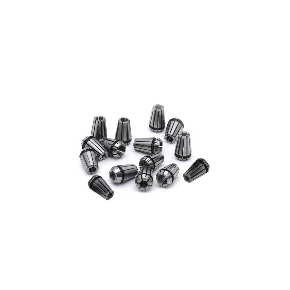 15pcs/Lot ER11 Spring Collet Set for CNC Engraving Machine & Milling Lathe Tool  9pcs lot er32 spring collet set for cnc engraving machine and milling lathe tool 2 20mm