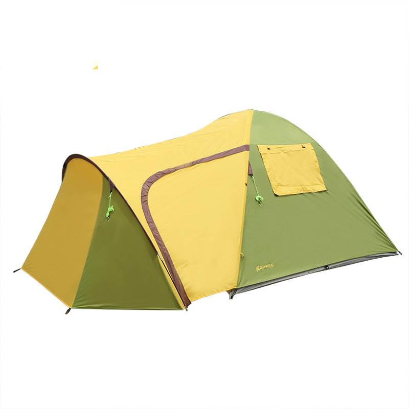 High Quality Beach Large Fishing Travel 3-4 Person Double Layers One Hall One Bedroom Rainproof Camping Outdoor Tent high quality waterproof oxford fabric double layers tent large space 6 8 person 4 season outdoor travel camping hiking tent