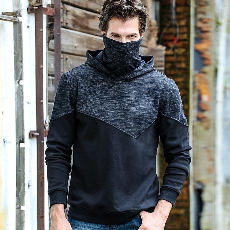 2018 neue hohe kragen hoodie windjacke sport pullover männer der hemd dicken plus samt männlichen zwei-farbe wandern jacke