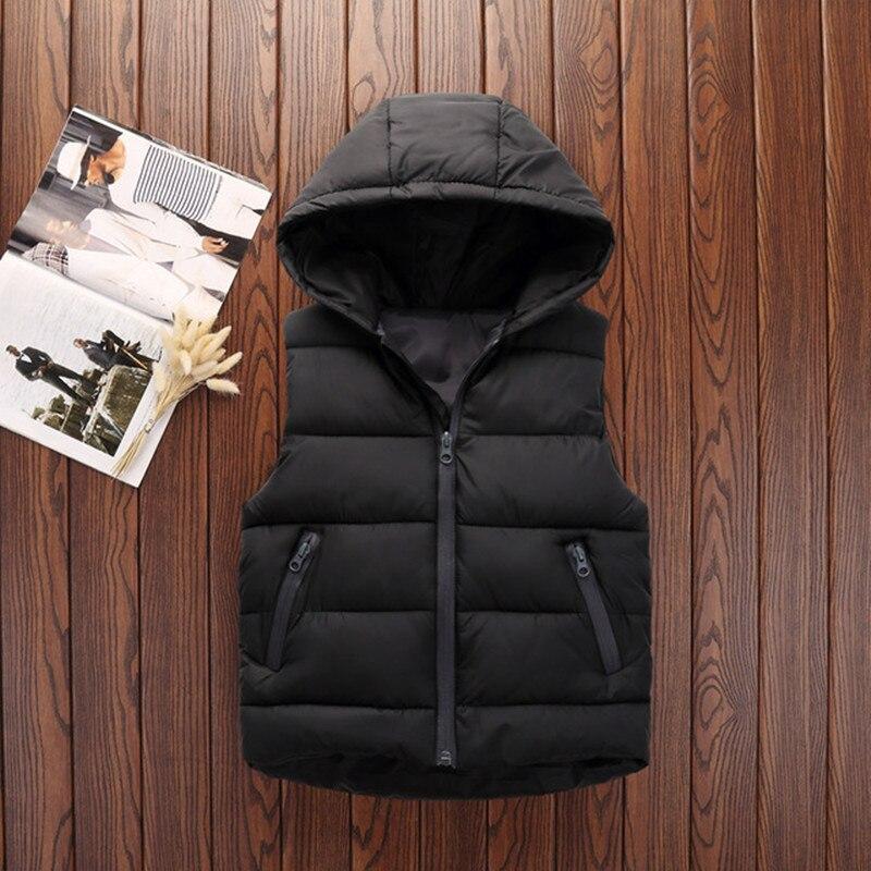 Autumn Children Warm Vest Kids Thicken Waistcoat Kids Outerwear Vest Children Clothing Teenager Boys Girls Hooded Jackets Vest (10)