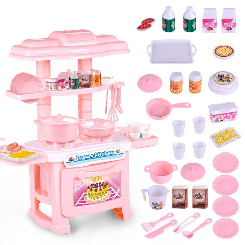 Kids Kitchen Set Children Kitchen Toys Large Cooking Simulation