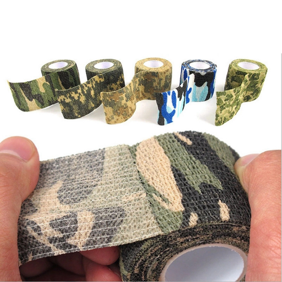 YINGTOUMAN 1pcs 5cmx4.5m Camping Camo Outdoor Hunting Shooting Tool Camouflage Stealth Tape Waterproof Wrap Durable Army Cover