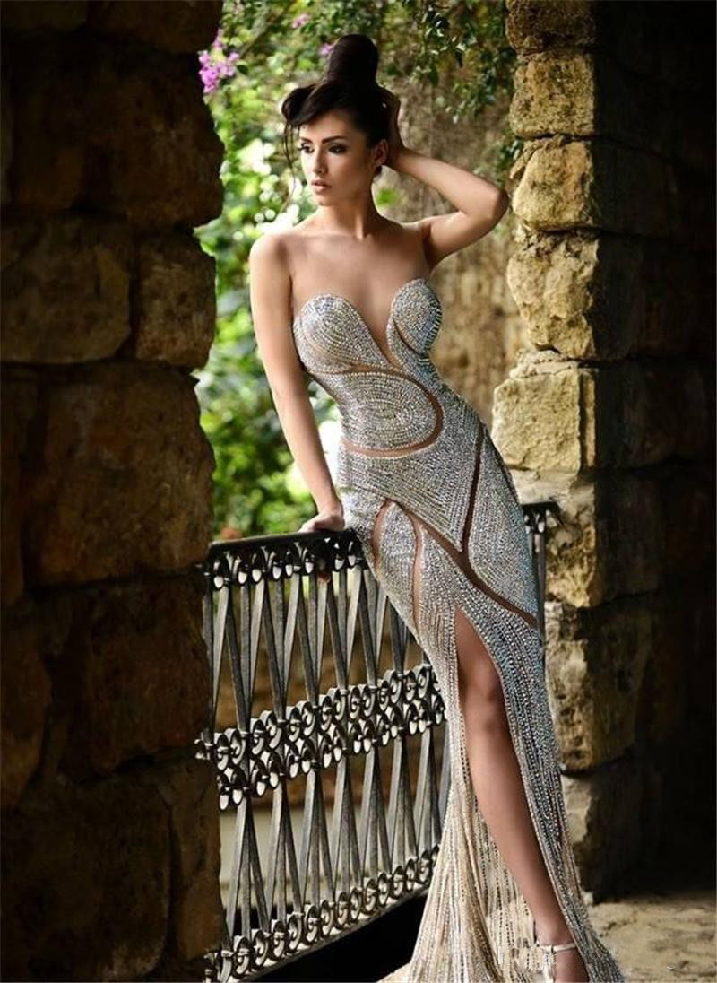 Unique Design New Bling Bling Sweetheart Celebrity Dresses Shining Floor-Length Evening Dress Luxury Formal Prom Gowns Veatidos(China)