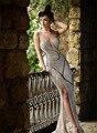 Diseño único de Nueva Bling Bling Sweetheart Celebrity Vestidos Brillante Piso-Longitud Vestido de Noche de Lujo Vestidos de Fiesta Formales Veatidos