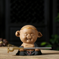 yixing zisha tea pet on tea tray handmade Pig King small size house decoration holiday gift house warming gift on sales in China