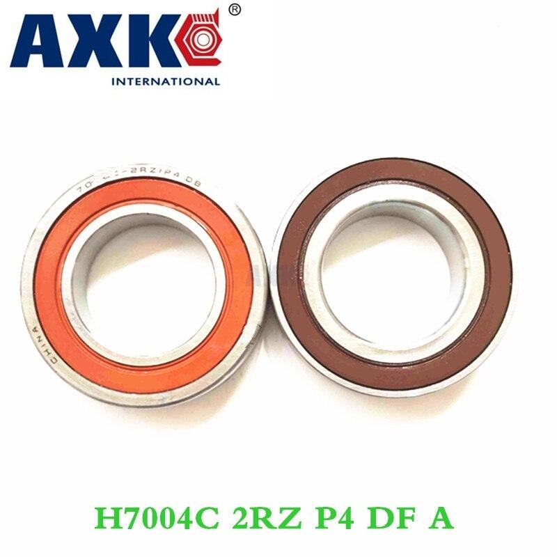 Axk 1 Pair 7004 H7004c 2rz P4 Df A 20x42x12 20x42x24 Sealed Angular Contact Bearings Speed Spindle Bearings Cnc Abec-7 1 pair axk 7001 7001c 2rz p4 db a 12x28x8 12x28x16 sealed angular contact bearings speed spindle bearings cnc abec 7