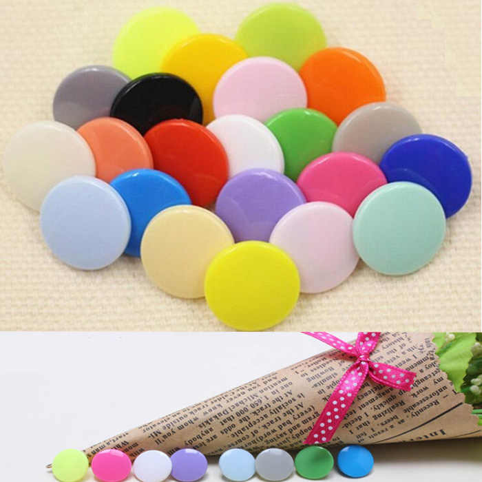 Arts Crafts 4in one Snap Buttons T3 10mm Fasteners Press Stud plastic resin for handmade Gift Box Scrapbook Craft DIY Sewing Wh
