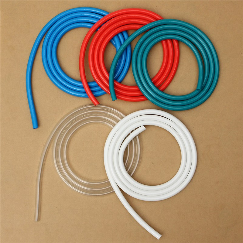 Computer Water-cooled Hose Diameter 8MM Diameter 12MM Tube 2 Meters Long Red Blue Green White Transparent Color 2m PVC Soft Pipe smc pneumatic white air hose tu1208c 100 inside diameter 8mm external diameter 12mm hose length 100m