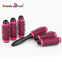 Thermal Aluminum Tube Hair Comb Small Size Hair Brush Thermal Ceramic Ionic Round Barrel Comb For