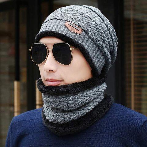 2018 Men Beanies Knit Hat Winter Cap For Man knitted Cap Boys Thicken Hedging Cap Balaclava Skullies Fashion Warm knit Beanie Lahore
