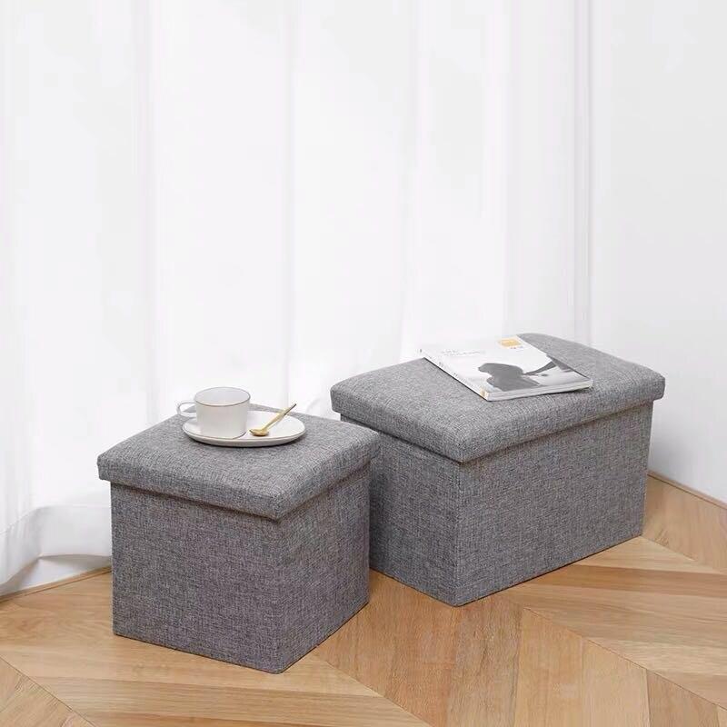 Stool Chairs Storage-Box Sofa Tea-Table Folding Multifunctional Cloest Fitting