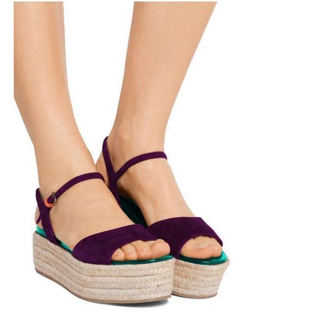 5cd5c9830dc Womens Slingback Espadrilles Wedges Open Toe Sandals Ankle Rope Heels  Vacation Shoes Platform Ladies Sandal Comfortable Shoes