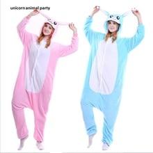 Kigurumi Adult Cartoon Animal Pink Rabbit Unisex Onesie Pajamas Cosplay Costumes Sleepsuit Sleepwear Halloween  Costume
