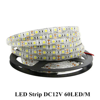 diy home smart zigbee strip controller work with amazon echo 5m 20 m set rgb 5050 led strip light non waterproof dc12v [DBF]LED Strip 5050 DC12V 60LED/M 5M/Lot Flexible LED Light RGB 5050 LED Strip 300LED Strip Adhesive Tape IP20 / IP65 Waterproof