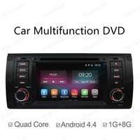 2 Din Android 4.4 Full Touch Panel GPS Navi Car DVD Radio Player for BMW 5 Series E39 X5 E53 M5 Quad Core Mirror Link Wifi BT