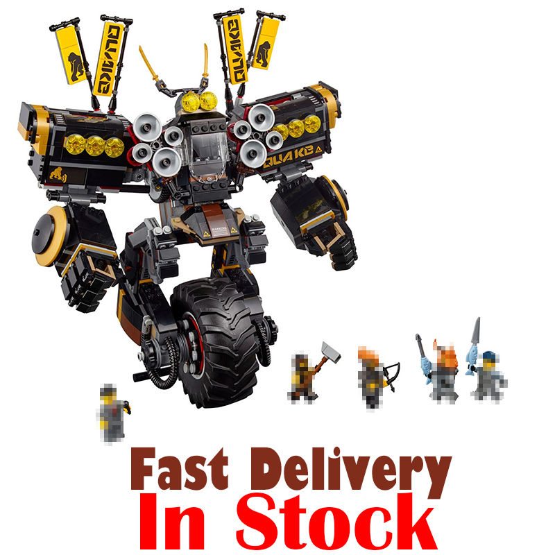 In Stock 06069 1346 Pcs Cole's Quake Mech Ninjagoed Series Jay Kai A Gang's Unicycle Lepin Building Blocks Toys Compatible 70632 lepine 06069 1346 pcs ninjagoe quake mech set jay kai a gang s model building blocks toys for children compatible legoe 70632