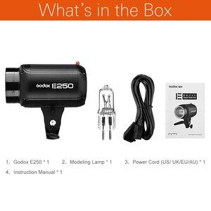 Image 2 - Godox E250 Fotoğraf Stüdyosu Strobe Fotoğraf Flaş ile kablosuz kontrol 250 W stüdyo ışığı portu ateş küçük ürünler