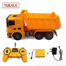 YUKALA RC грузовик(пульт дистанционного управления трактором) инженерный самосвал Миксер Модель автомобиля игрушки для мальчиков