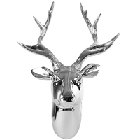 European deer head antler wall decoration hotel clubhouse model room living room background wall decoration pendant decorations