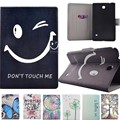 New arrival super slim Fashion Patterns PU Leather Case Smart Cover Cases For Samsung Galaxy Tab 4 8.0 T330 T331 T335 Tablet PC
