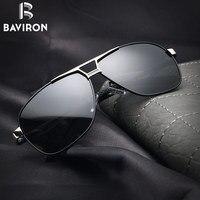 BAVIRON 2017 Nieuwe Model Zonnebril Mannen Gepolariseerde Lens Hoge Kwaliteit Metalen Zonnebril Mannelijke Perfecte Rijden Top Eyewear Gafas 8521