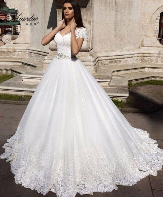 Neues Design Kurzen Ärmeln Hochzeitskleid 2017 Neue V ausschnitt A ...