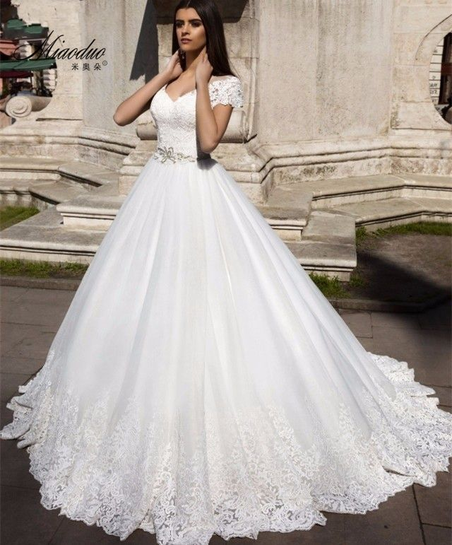 Simple Design Scoop Neck Long Sleeve Long A Line Tulle: Online Buy Wholesale Short Wedding Dress From China Short