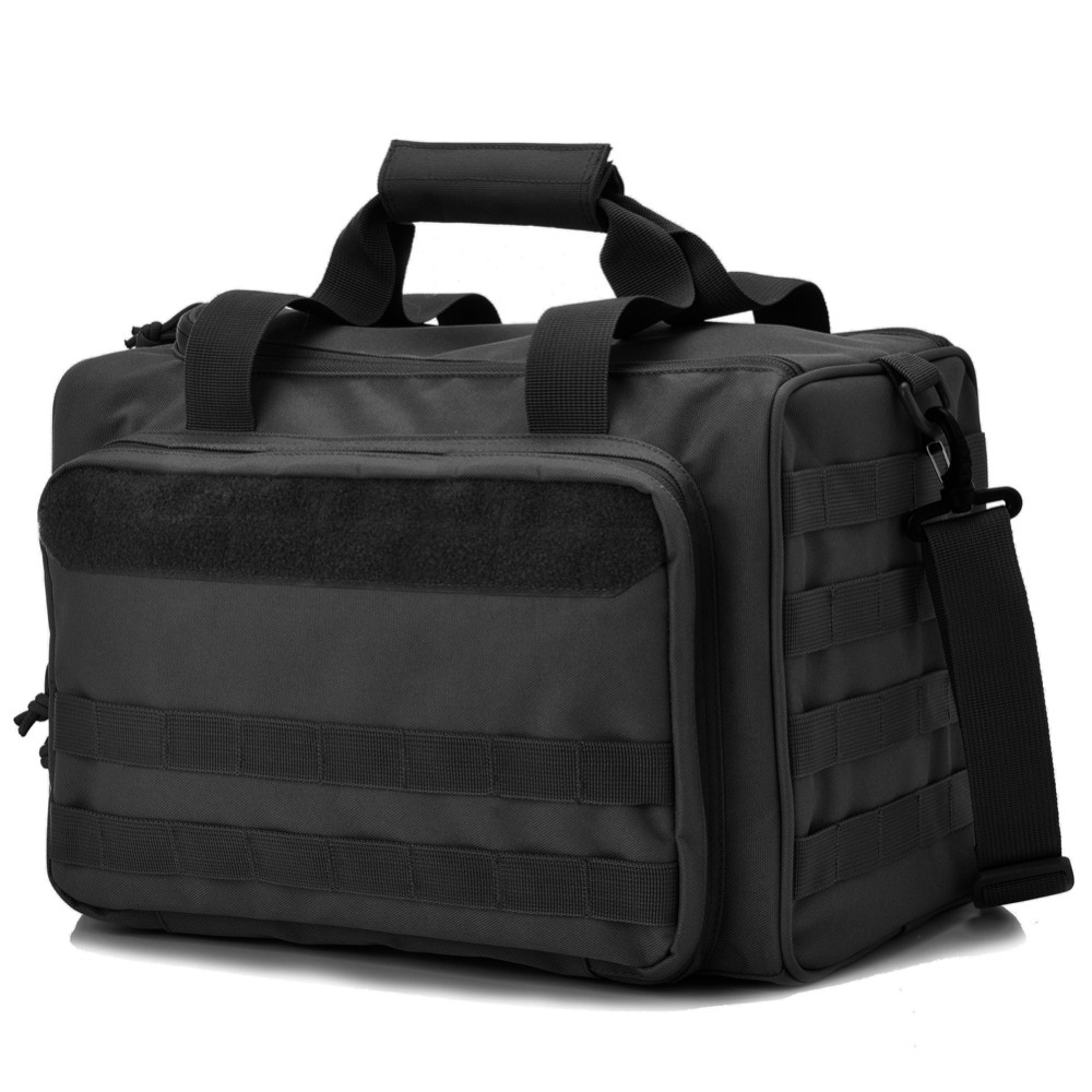 Tactical Gun Shooting Range Bag Deluxe Pistol Range Duffle Bags Black
