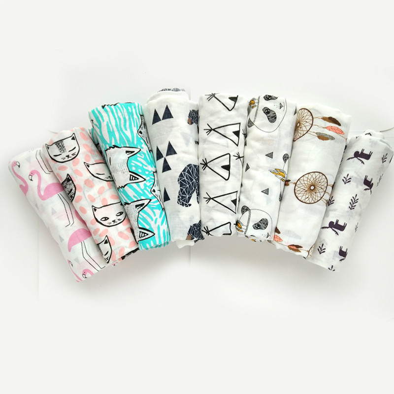 Muslin Swaddle Cotton Baby Inbakeren Super Soft Blankets Newborn Blanket Infant Gauze Bath Towel Wrap Stroller Cover Kids Warp