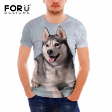 FORUDESIGNS Cool Husky Dog Men/Women T Shirt Summer Tops Tees Animal Print T-Shirt Men o-neck Short Sleeve Fashion Tee Shirts