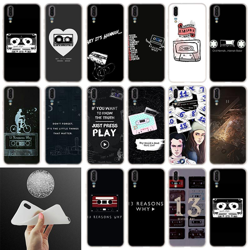 Soft Silicone <font><b>Phone</b></font> <font><b>Case</b></font> <font><b>13</b></font> <font><b>reasons</b></font> <font><b>why</b></font> netflix For Huawei P30 P20 P30Pro P10 P9 P8 Plus Lite 2017 P samrt 2019 Cover image