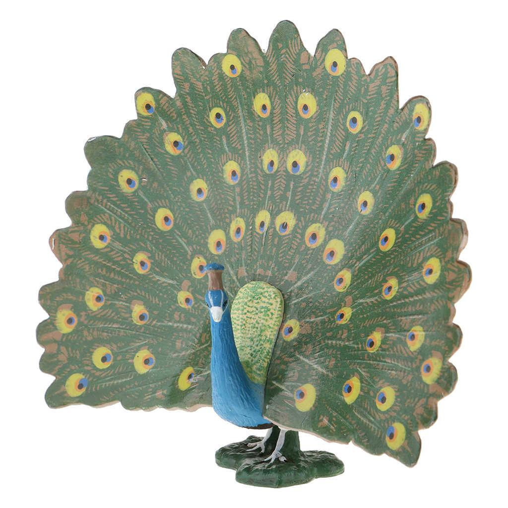 Figurine e Statue Ornamenti Pavone Realistico per Prato Giardino Patio Decorativo