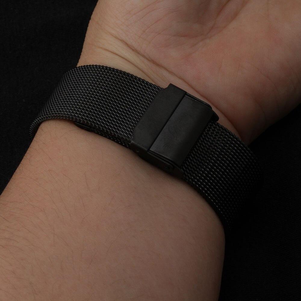 14mm 16mm 17mm 18mm 19mm 20mm Watch band strap Bracelets for wrist watches men quartz hours fashion mesh belt black high quality