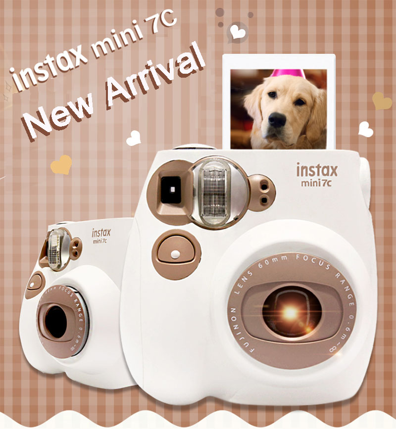 New Genuine Fuji Fujifilm Instax Mini 7C 7S Camera Instant Printing Photo Film Snapshot Shooting Camera