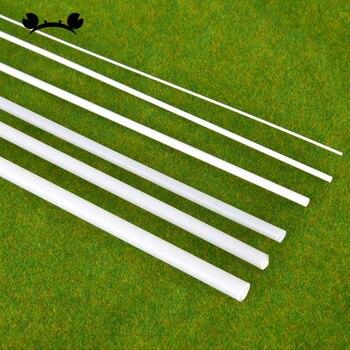 5 uds Dia 2-5mm de plástico ABS de varilla redonda hacer modelo paisaje construcciones arquitectónicas modelos paisaje 25cm 50cm de longitud