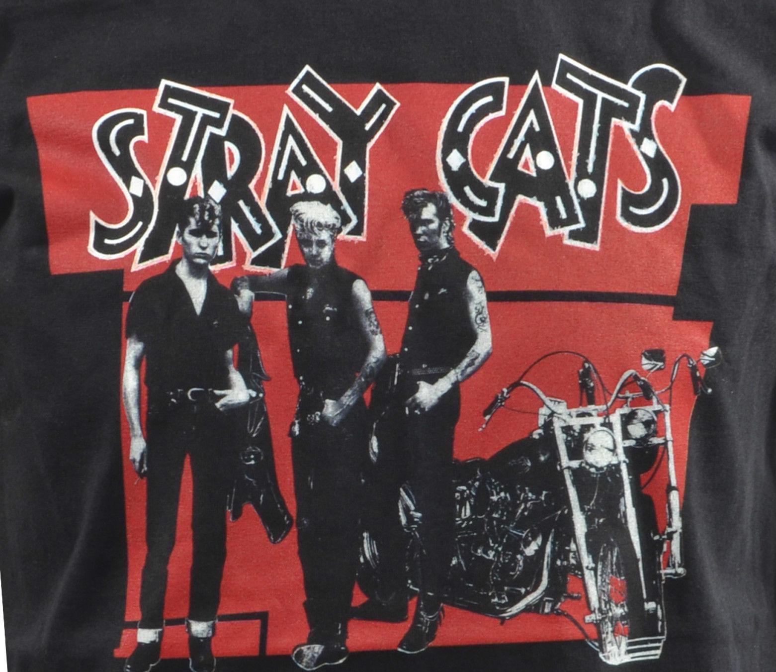 MENS STRAY CATS T-SHIRT ROCKABILLY BRIAN SETZER ROCK /& ROLL SLIM JIM S-5XL