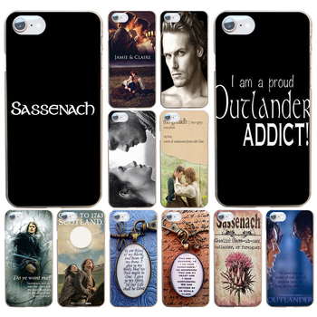 OUTLANDER TV Jamie Fraser Printed Hard Transparent Cover Case For Iphone 4 4s 5 5s Se 6 6s 8 Plus 7 7 Plus X image