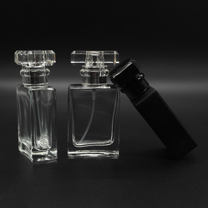 Image 3 - 30ml Glass Empty Perfume Bottles Square Spray Atomizer Refillable Bottle Scent Case with Travel Size Portable
