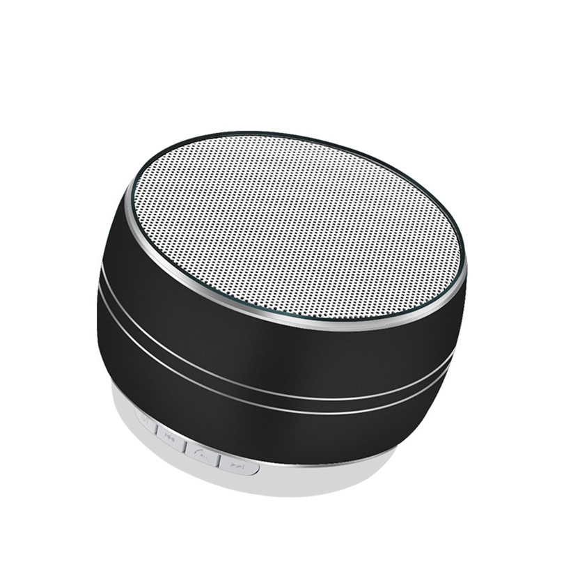 Elivebuy Metal LED Bluetooth Speakers 360 Degree Stereo Subwoofer Music Receiver TF FM Radio USB Mini Wireless MP3 player