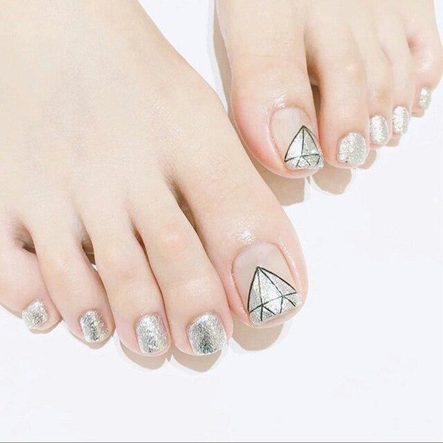 Einfache 24 Teile Satz Elegante Flesh Farbe Silber Glitter Diamant