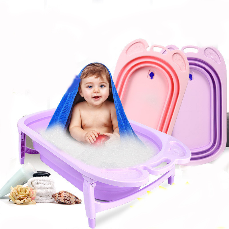 Thickened Folding Baby Bath Tub Children's Bath Tub Baby Bath Large Children Can Enjoy Bath Tub Children Newborn Bathtub bath