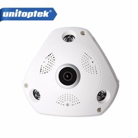 HD 960P 3D VR CCTV IP Camera WiFi Fisheye Lens Night Vision 1 3MP Panorama Wireless