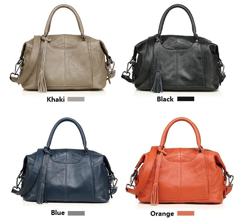 MJ Women Genuine Leather Handbag Female Real Cow Leather Tote Bag Ladies Large Capacity Shoulder Bag Crossbody Bags for Women (3)
