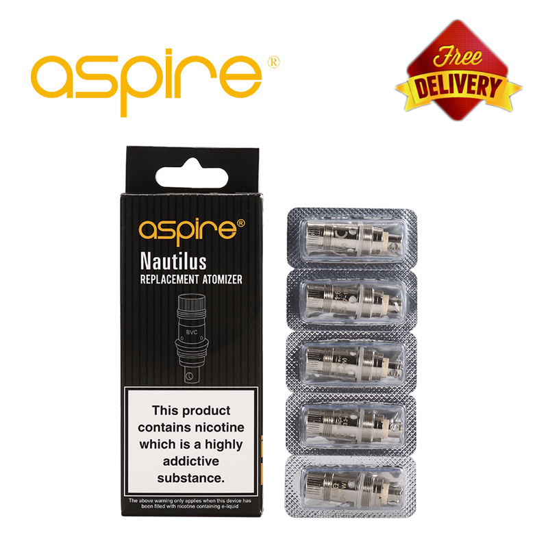 5pcs/lot Aspire Nautilus 2 BVC Coil Vape Coil 0.7/1.6/1.8 Ohm Replacement E Cigarettes Coils For Nautilus Mini/Nautilus Aio/K3