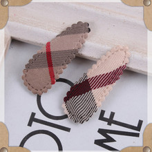 10PCS/LOT Classic Clip Hair Accessories For Women Headband,Upscale Plaid Cloth Band Hair Clip Girl,Novelty Hair Band For Kids