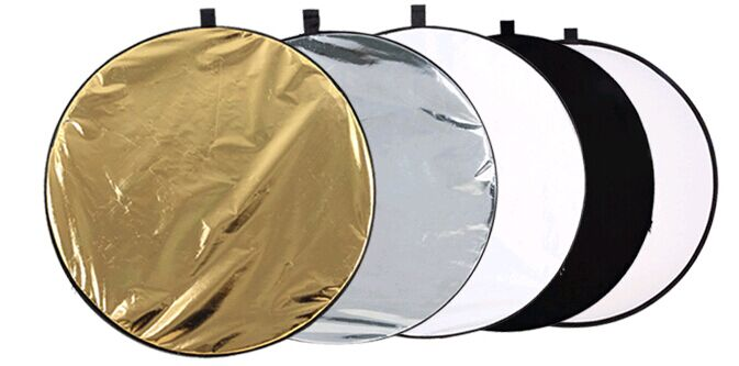 COLLAPSIBLE MULTI DISC LIGHT REFLECTOR FREE SHIPPING 5 IN 1 RE06
