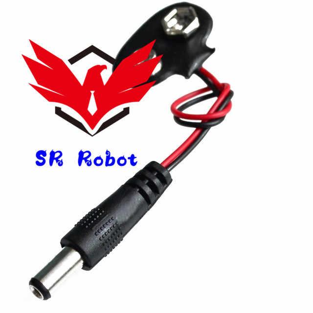90 DC 9 V Bateria Botão Power Plug de Alimentação Para Arduino Mega 2560 1280 UNO R3 132 9 V Bateria fivela Diy Kit Robô Carro Inteligente