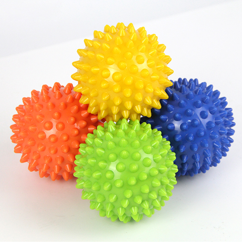 Footful Spiky Massage Ball Trigger Point Sport Fitness Hand Foot Pain Relief Muscle Relax Apparatus Unisex Hard 6 Colors