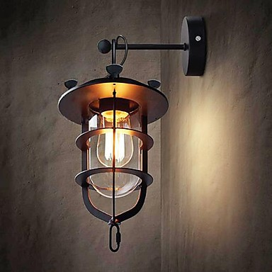 Wall Sconces Lamp With 1 Light Simple Modern Artistic, loft wall sconce for bedroom living room foyer,Bulb Included norbic creative loft wood wall sconce lamp with switch home deco bedroom iron bell lampshade e27 bulb wall light fixture